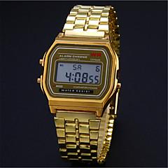 preiswerte Tolle Angebote auf Uhren-Herrn Damen Paar digital Armbanduhr Armbanduhren für den Alltag Edelstahl Band Charme Kleideruhr Modisch Silber Gold
