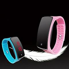 お買い得  メンズ腕時計-男性用 スポーツウォッチ デジタル タッチスクリーン LED 光る シリコーン バンド デジタル チャーム ファッション 多色 - グリーン ブルー ワイン 1年間 電池寿命 / SODA AG4