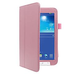 お買い得  タブレット用ケース-ケース 用途 Samsung Galaxy フルボディーケース / タブレットケース ソリッド ハード PUレザー のために Tab 3 Lite
