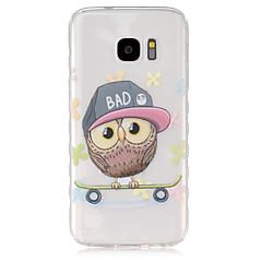 billige Galaxy S4 Mini Etuier-Etui Til Samsung Galaxy Samsung Galaxy etui Gennemsigtig Bagcover Ugle TPU for S7 S6 edge S6 S5 Mini S5 S4 Mini S4 S3 Mini S3 S2