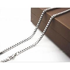 preiswerte Halsketten-Herrn Ketten - Titanstahl Silber Modische Halsketten Für Weihnachts Geschenke, Alltag, Normal