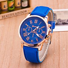 preiswerte Tolle Angebote auf Uhren-Geneva Damen Armbanduhr Armbanduhren für den Alltag Leder Band Freizeit / Modisch Schwarz / Weiß / Blau / Ein Jahr / Tianqiu 377