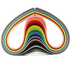 halpa Lasten puuhasetit-120kpl 5mmx53cm quilling paperi (24 väriä X5 kpl / väri) DIY veneet art koristelu