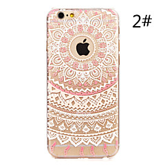 Kompatibilitás iPhone X iPhone 8 iPhone 7 iPhone 7 Plus iPhone 6 iPhone 6 Plus tokok Minta Hátlap Case Mandala Kemény PC mert Apple