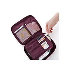 حقيبة السفر منظم أغراض السفر حقيبة أدوات تجميل للسفر حقيبة مستحضرات التجميل مقاوم للماء مكتشف الغبار تخزين السفر إلى ملابس البوليستر /