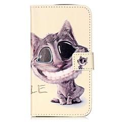 Για Πορτοφόλι Θήκη καρτών με βάση στήριξης Ανοιγόμενη Με σχέδια Μαγνητική tok Πλήρης κάλυψη tok Γάτα Σκληρή Συνθετικό δέρμα για HuaweiLG