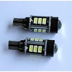 お買い得  自動車用LED電球-白いランプを逆転T15 5050-12smd + 1creeカーターンライト