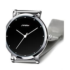 お買い得  大特価腕時計-SINOBI 男性用 リストウォッチ クォーツ 30 m 耐水 ステンレス バンド ハンズ シルバー - ブラック 2年 電池寿命