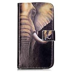 Недорогие Чехлы и кейсы для LG-Кейс для Назначение LG K8 LG LG K10 LG K7 LG G5 Бумажник для карт Кошелек со стендом Флип Магнитный С узором Чехол Слон Твердый Кожа PU