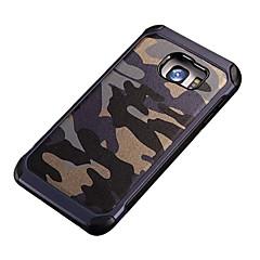 halpa Galaxy S6 kotelot / kuoret-Etui Käyttötarkoitus Samsung Galaxy Samsung Galaxy S7 Edge Iskunkestävä Kuvio Takakuori Armeijatyyli PC varten S7 Active S7 plus S7 edge