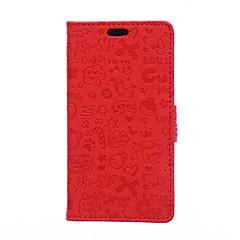 Для Кейс для Huawei / P9 / P9 Lite / P8 Lite / Mate 8 Кошелек / Бумажник для карт / со стендом Кейс для Чехол Кейс для Мультяшная тематика