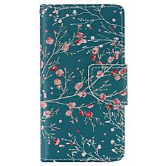 Для Кейс для Sony / Xperia Z5 Кошелек / Бумажник для карт / со стендом / Флип Кейс для Чехол Кейс для дерево Твердый Искусственная кожа
