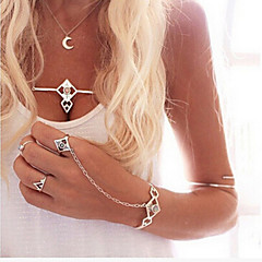 preiswerte Armbänder-Damen Kristall Manschetten-Armbänder - Einzigartiges Design, Europäisch, Modisch Armbänder Silber Für Party Alltag Normal