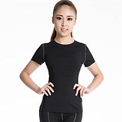 여성용 러닝 티셔츠 짧은 소매 빠른 드라이 통기성 압축 땀 흡수 기능성 소재 컴프레션 의류 탑스 용 요가 운동&피트니스 달리기 폴리에스터 엘라스틴 단단히 피치 레드 그린 블루 그레이 S M L XL XXL
