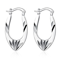 preiswerte Ohrringe-Damen Lang Ohrstecker / Klips - Sterling Silber, versilbert, Silber Blume Europäisch, Grabado Silber Für Hochzeit / Party / Alltag