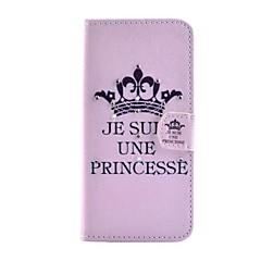 Для Кейс для iPhone 5 Кошелек / со стендом / Флип Кейс для Чехол Кейс для Слова / выражения Твердый Искусственная кожа iPhone SE/5s/5