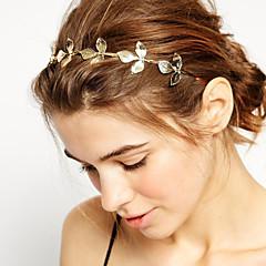 abordables Joyería para el Cabello-Mujer / Chica Flor, Chapado en Oro / Legierung Diadema - Básico / Naturaleza / Estilo Simple / Bandas de cabeza / Bandas de cabeza / Forma de Hoja