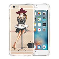 Недорогие Кейсы для iPhone 6-Кейс для Назначение Apple iPhone X iPhone 8 iPhone 6 iPhone 6 Plus Защита от удара Прозрачный С узором Кейс на заднюю панель