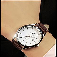 お買い得  大特価腕時計-男性用 クォーツ リストウォッチ カレンダー 耐水 ステンレス バンド チャーム ブラック ブラウン
