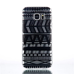 Varten Samsung Galaxy S7 Edge Läpinäkyvä Kuvio Etui Takakuori Etui Linjat / aallot TPU varten SamsungS7 edge S7 S6 edge plus S6 edge S6