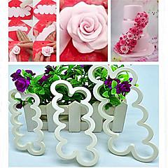 お買い得  ベイキング用品&ガジェット-3本のバラ花型ケーキフォンダント砂糖彫刻カッターツールを飾る