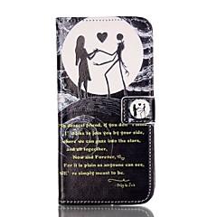 For Pung Kortholder Med stativ Flip Mønster Etui Heldækkende Etui Tegneserie Hårdt Kunstlæder for AppleiPhone 7 Plus iPhone 7 iPhone 6s