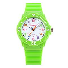 お買い得  メンズ腕時計-SKMEI リストウォッチ カジュアルウォッチ ラバー バンド キャンディ / カジュアル / ファッション ブラック / ブルー / オレンジ