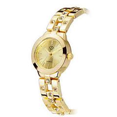 voordelige Dameshorloges-Dames Modieus horloge Armbandhorloge Kwarts Waterbestendig Keramiek Band Elegante horloges Zilver Goud Zilver Gouden