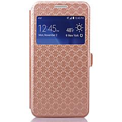お買い得  Samsung その他の機種用ケース/カバー-ケース 用途 Samsung Galaxy Samsung Galaxy ケース カードホルダー スタンド付き ウィンドウ付き フリップ フルボディーケース 幾何学模様 PUレザー のために Grand Prime
