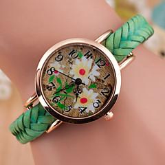 preiswerte Damenuhren-Damen Armbanduhr Quartz Armbanduhren für den Alltag Leder Band Analog Charme Modisch Schwarz / Weiß / Blau - Rot Grün Blau
