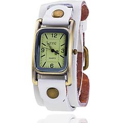 preiswerte Tolle Angebote auf Uhren-Damen Armbanduhr Armbanduhren für den Alltag Leder Band Retro / Modisch / Kleideruhr Schwarz / Blau / Braun