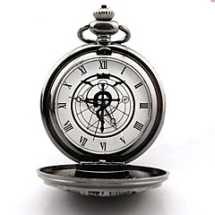 tanie -Zegar/zegarek Zainspirowany przez Fullmetal Alchemist Edward Elric Anime Akcesoria do Cosplay Zegar/zegarek Srebrny Slitina Męskie