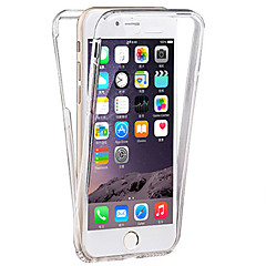 Til iPhone 8 Plus iPhone 7 iPhone 7 Plus iPhone 6 iPhone 6 Plus Etuier Transparent Heldækkende Etui Helfarve Blødt TPU for Apple iPhone 8