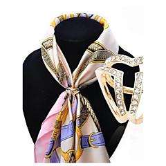 Dames Broches Kristal Modieus Kostuum juwelen Legering Sieraden Voor Bruiloft Feest Speciale gelegenheden  Verjaardag Verloving Dagelijks