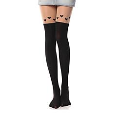 Κάλτσες & Καλτσόν Κάλτσες Μέχρι τους Μηρούς Γλυκιά Λολίτα Lolita See Through Γυναικεία Αξεσουάρ Lolita Στάμπα Καρδιές Καλσόν Βελούδο