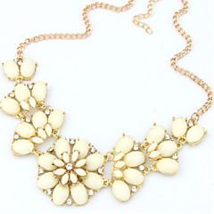 preiswerte Halsketten-Damen Perle Anhängerketten / Statement Ketten - Erklärung, Europäisch, Modisch Rosa, Leicht Grün, Regenbogen Modische Halsketten Schmuck Für Party