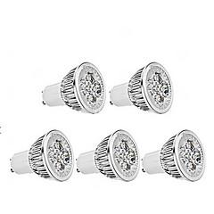 お買い得  LED&照明機器-4W 350 lm GU10 LEDスポットライト MR16 1 LEDの 温白色 AC85-265