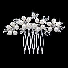 cheap Hair Jewelry-Women's Elegant & Luxurious Crystal Imitation Pearl Imitation Diamond Hair Comb