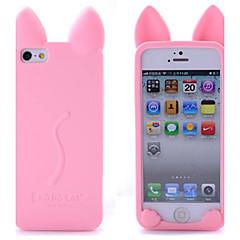 Недорогие Кейсы для iPhone-Кейс для Назначение iPhone 5 / Apple iPhone 8 / iPhone 8 Plus / Кейс для iPhone 5 Защита от удара Кейс на заднюю панель 3D в мультяшном стиле Мягкий Силикон для iPhone 8 Pluss / iPhone 8 / iPhone SE