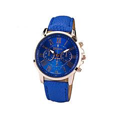 お買い得  レディース腕時計-Geneva 女性用 リストウォッチ クォーツ カジュアルウォッチ PU バンド ハンズ チャーム ファッション ブラック / 白 / ブルー - グリーン ブルー ピンク 1年間 電池寿命 / SSUO 377