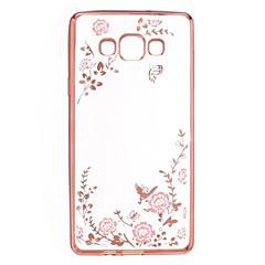 halpa Galaxy A7 kotelot / kuoret-Varten Samsung Galaxy kotelo Paljetti / Pinnoitus / Läpinäkyvä / Kuvio Etui Takakuori Etui Kukka TPU Samsung A9 / A8 / A7 / A5