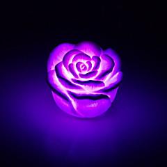 お買い得  屋内照明-創造的な色変化アクリルバラは夜の光色鮮やかな光が恋人のギフトの家の装飾をバラ主導しました