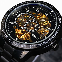 cheap -WINNER® Men's Skeleton Watch Wrist watch Mechanical Watch Automatic self-winding Water Proof Hollow Engraving Tachymeter Wrist Watch