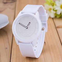 preiswerte Tolle Angebote auf Uhren-Damen Armbanduhr Armbanduhren für den Alltag Silikon Band Heart Shape / Modisch / Minimalistisch Schwarz / Weiß / Blau / Ein Jahr / Tianqiu 377
