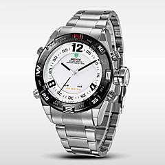 WEIDE Heren Polshorloge Digitaal horloge Kwarts Digitaal Japanse quartz LED Kalender Chronograaf Waterbestendig Dubbele tijdzones alarm