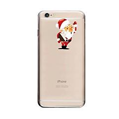Для Кейс для iPhone 6 Прозрачный / С узором Кейс для Задняя крышка Кейс для Новогодняя тематика Твердый PC для AppleiPhone 7 Plus /
