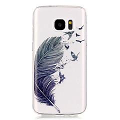 Χαμηλού Κόστους Galaxy S6 Edge Θήκες / Καλύμματα-tok Για Samsung Galaxy Samsung Galaxy S7 Edge Διαφανής Με σχέδια Πίσω Κάλυμμα Φτερά Μαλακή TPU για S7 edge S7 S6 edge S6 S5