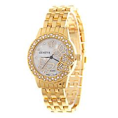 tanie Promocje zegarków-Damskie Modny Kwarcowy Stal nierdzewna Pasmo Muchy Srebro Złoty Różowe złoto Silver Golden Różowe złoto
