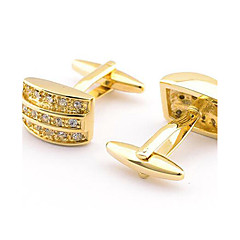 Men's Fashion Sparkle Gold Alloy French Shirt Cufflinks (1-Pair) Christmas Gifts