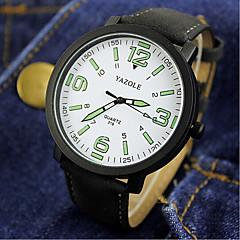 お買い得  大特価腕時計-カップル用 リストウォッチ クォーツ 30 m 耐水 PU バンド ハンズ チャーム ファッション ブラック / ブラウン - ブラック ホワイトとブラック ホワイト / ブラウン